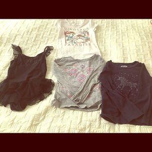 2 long sleeved , 1 sleeveless t-shirt,girl's,6